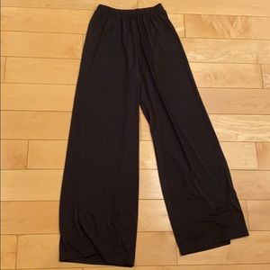 Black Elastic Waist Pants